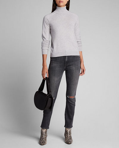 Cashmere Long-Sleeve Turtleneck Sweater