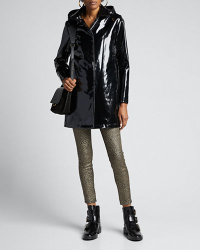 Faux-Fur Lined Iconic Slicker w/ Detachable Hood