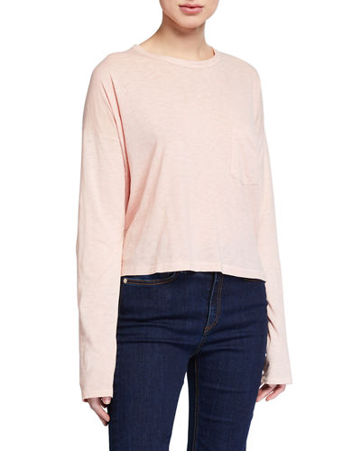 The Cropped Long-Sleeve Tee