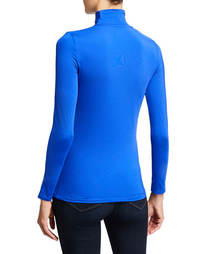 Fitted Long-Sleeve Turtleneck Top