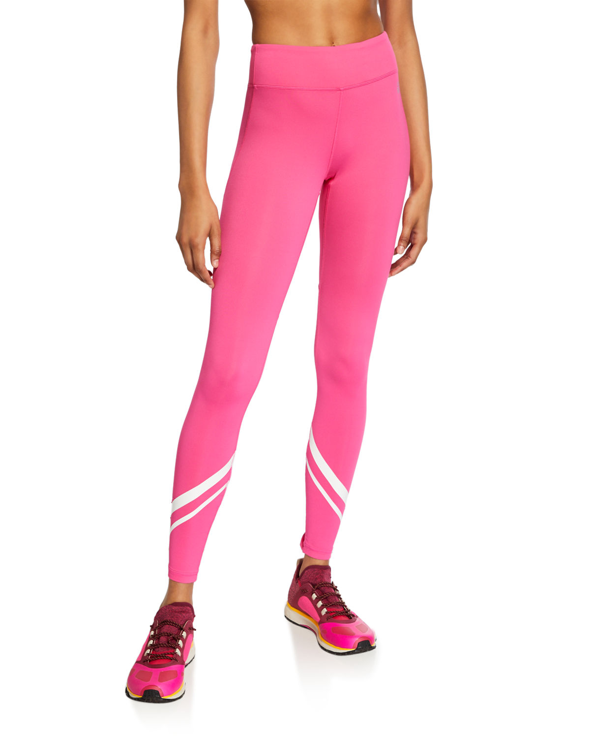 Tory Sport Pants CHEVRON FULL-LENGTH PERFORMANCE LEGGINGS