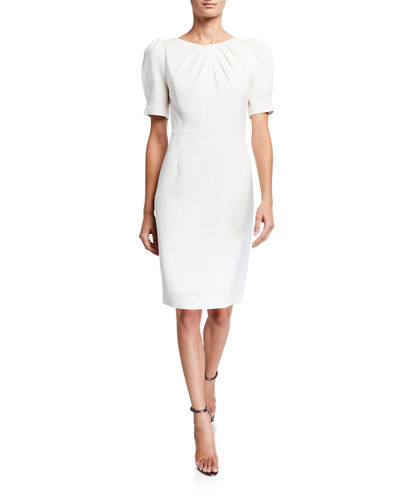 Delphine Short-Sleeve Sheath Dress