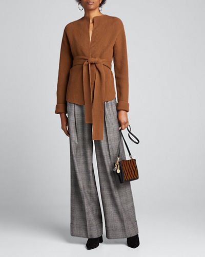 Felted Wool-Cashmere Jacket with Belt