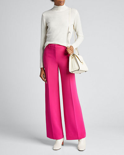 Admiral Crepe Wide-Leg Trousers