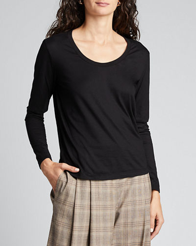 Cambria Scoop-Neck Long-Sleeve Top