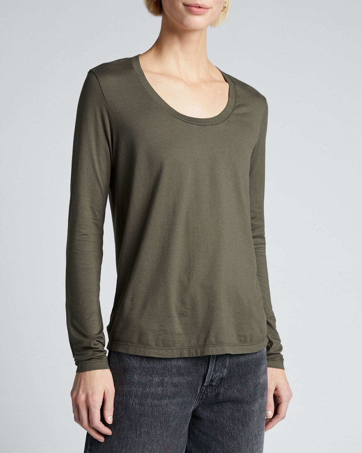 Ag Tops CAMBRIA SCOOP-NECK LONG-SLEEVE TOP
