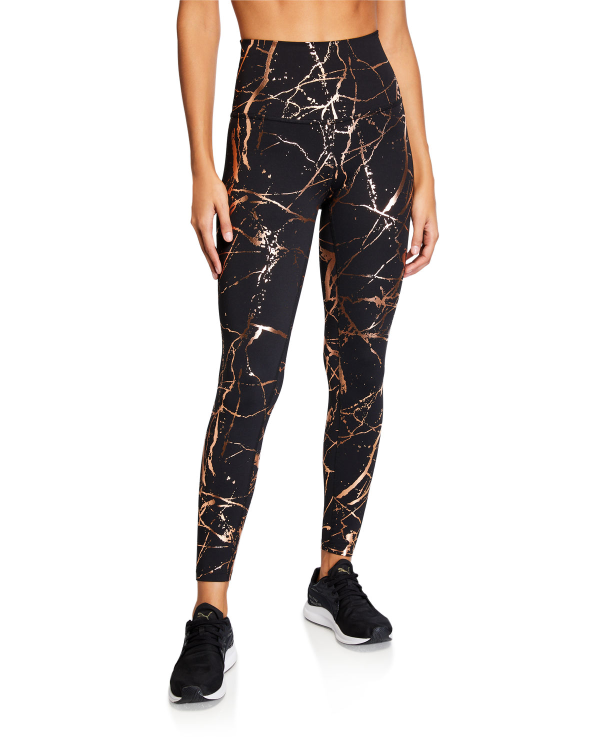 Beyond Yoga Pants LOST YOUR MARBLES HIGH-WAIST MIDI LEGGINGS