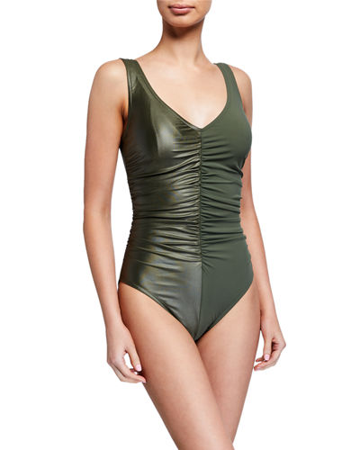Isla V-Neck Underwire One-Piece Swimsuit