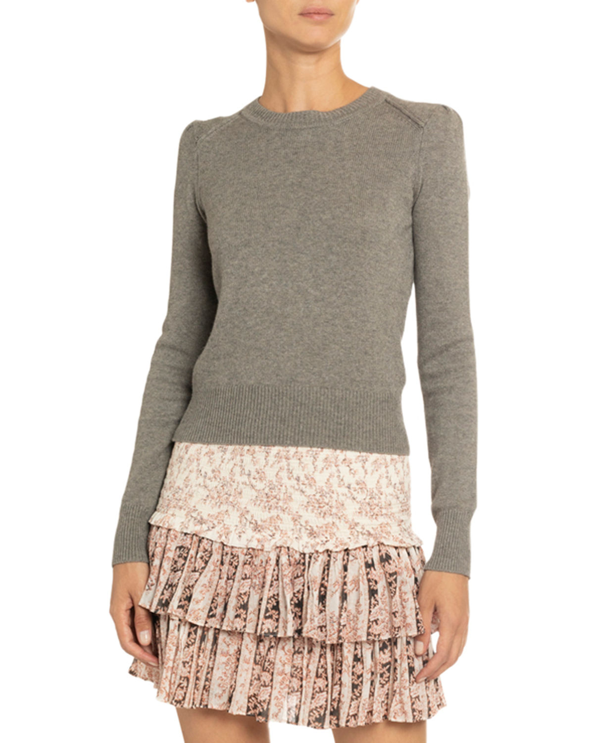 Etoile Isabel Marant Sweaters KLEELY COTTON-WOOL CREWNECK SWEATER