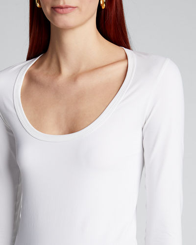 Scoop-Neck Long-Sleeve Sweatshirt