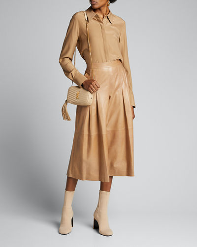 Arthur Lacquered Lambskin Leather Culottes