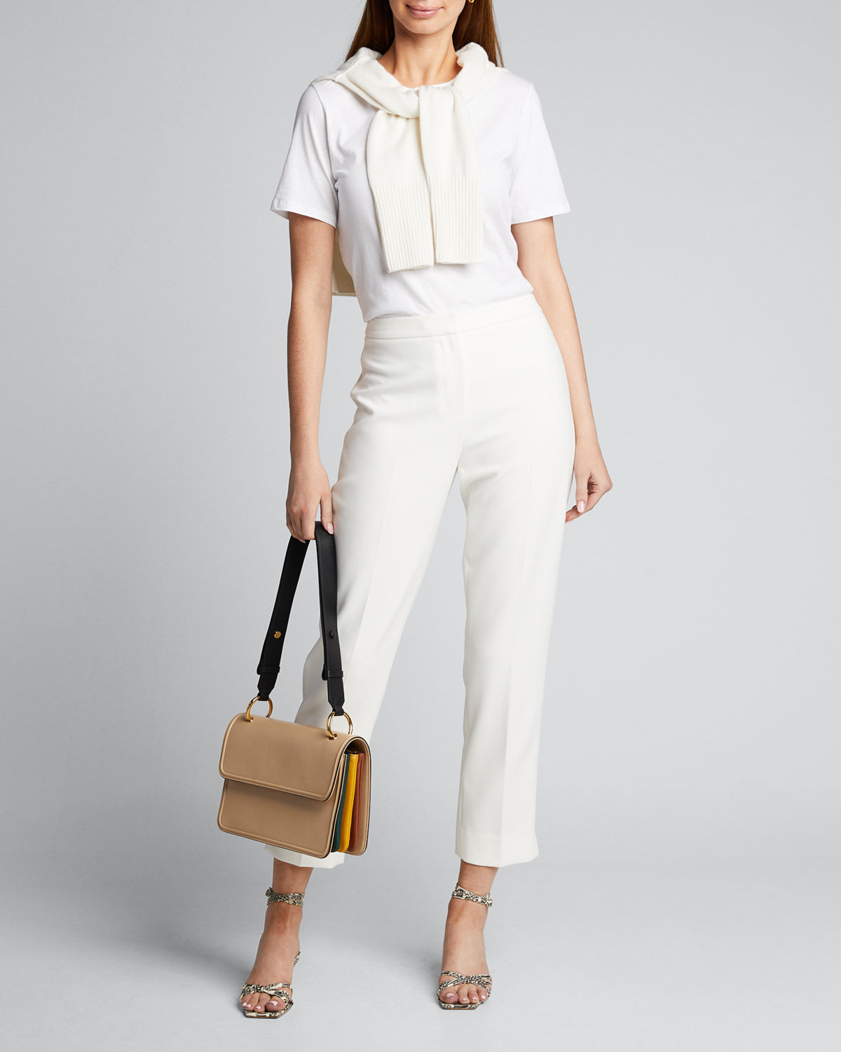 Kobi Halperin Pants LESLIE STRAIGHT-LEG ANKLE PANTS