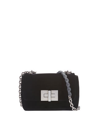 Small Natalia Velvet Chain Shoulder Bag