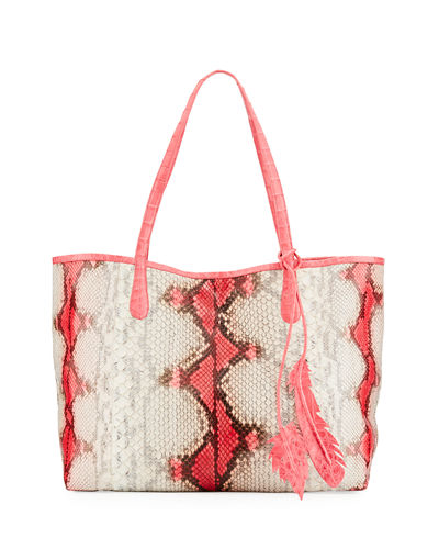 Nancy Gonzalez Erica Soft Python Tote Bag