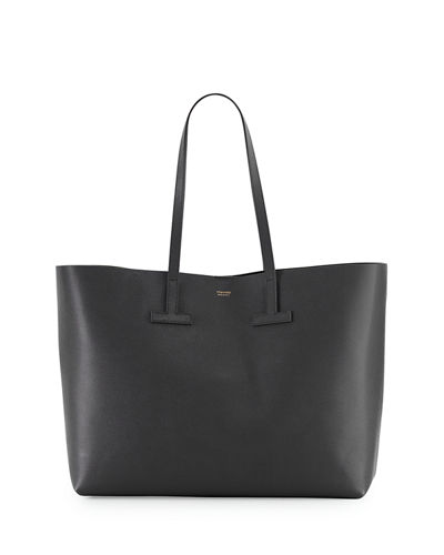 Small Grained Leather Tote Bag