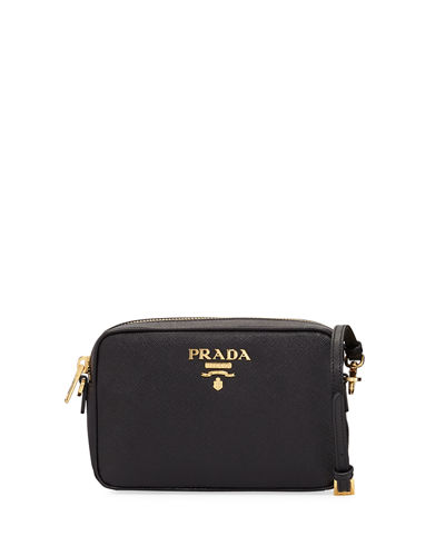 61b3959f1627 Prada Small Saffiano Leather Camera Crossbody Bag