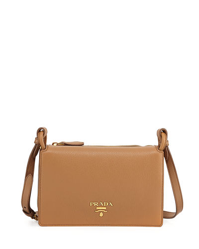 190056dea6143 Prada Vitello Daino Double-Gusset Shoulder Bag