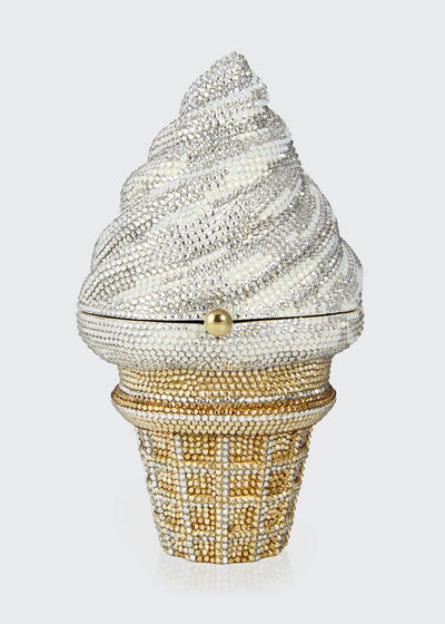 Ice Cream Cone Crystal Clutch Bag