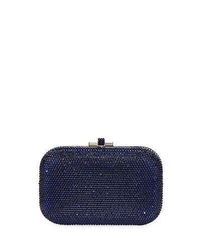 Crystal Slide-Lock Clutch Bag