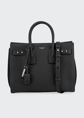 SAINT LAURENT Sac De Jour Small Supple Leather Bag, Black
