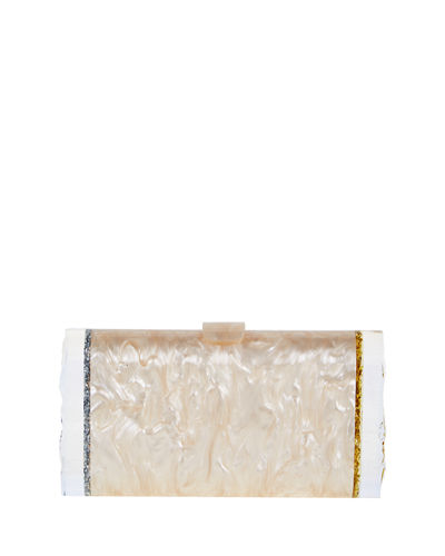 Lara Backlit Confetti Clutch Bag
