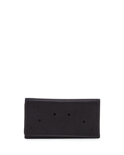 Perforated Calf Leather Wallet