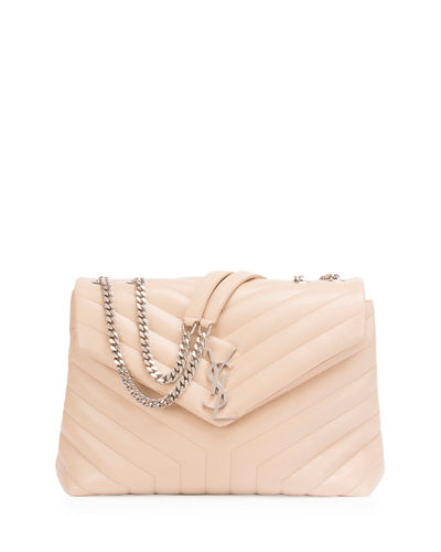 Beige Loulou small quilted leather shoulder bag Saint Laurent Wo6fZTIr