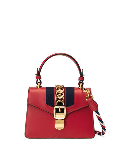 6e9cdb1d912f Gucci Sylvie Small Top-Handle Satchel Bag