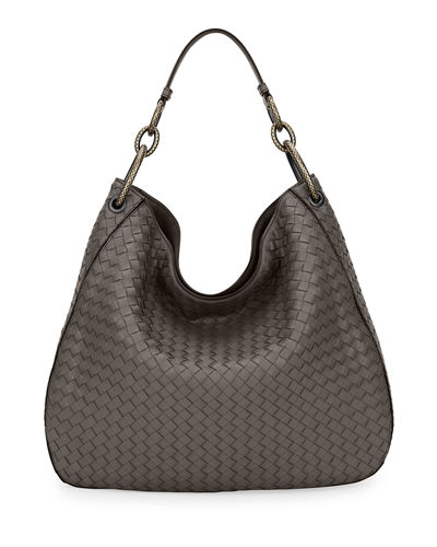 Large Loop Intrecciato Leather Shoulder Hobo Bag f7d0e67182244
