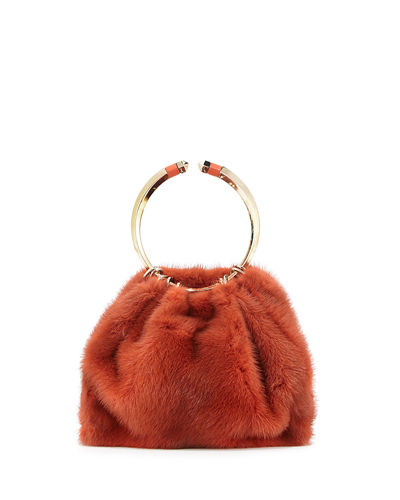Bebop Loop Mink Fur Top-Handle Bag