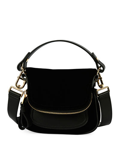 Jennifer Small Velvet Shoulder Bag