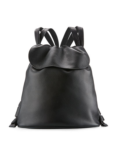 Knapsack Tumbled Leather Flap-Top Bag
