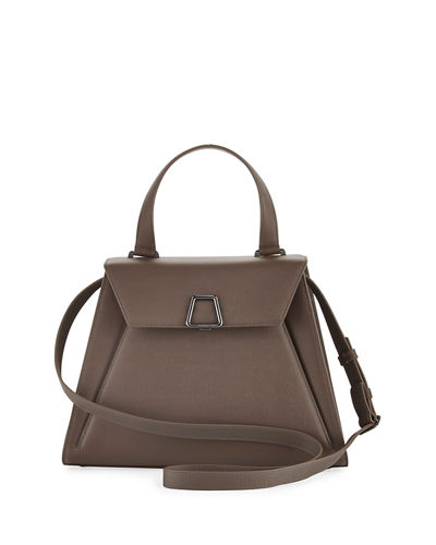 Alba Structured Leather Top Handle Bag