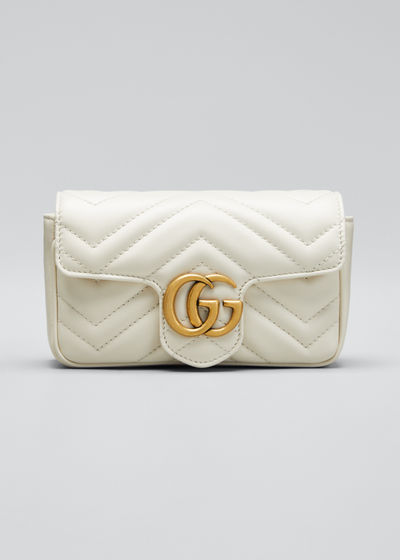 Supermini Quilted Leather Chain Shoulder Bag