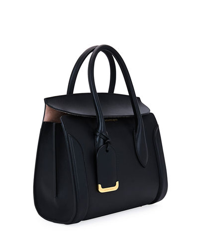 588face31546 Alexander McQueen Heroine 30 Small Sweet Calf Leather Tote Bag