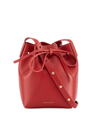 dde50bdbd Mini Mini Saffiano Leather Bucket Bag Quick Look. RED. Mansur Gavriel