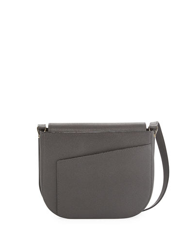 Twist Leather Crossbody Saddle Bag