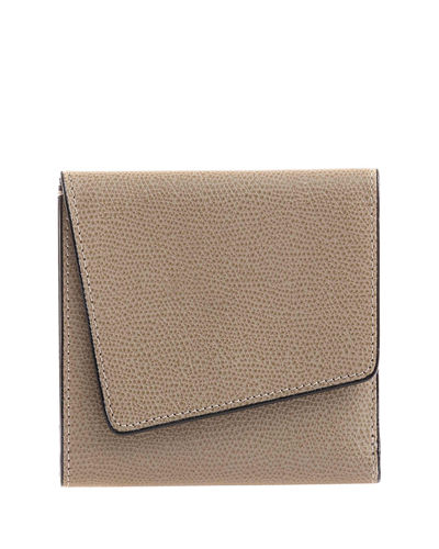 Twist Leather Portfolio Clutch Bag