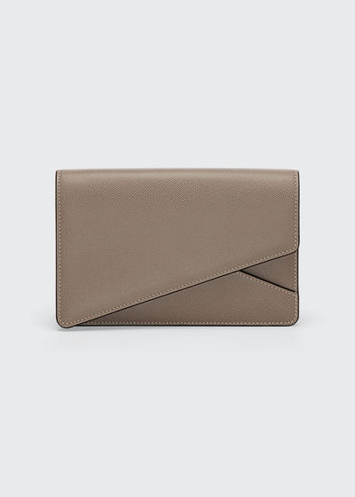 Twist Leather Clutch Bag