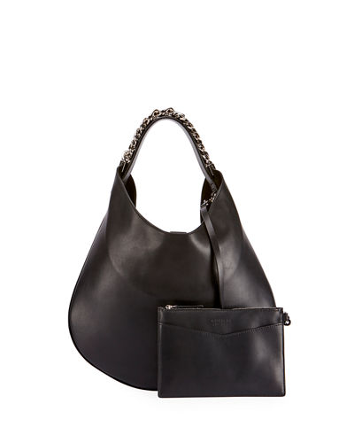 Infinity Small Leather Chain Hobo Bag