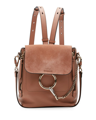 Faye Small Leather/Suede Backpack