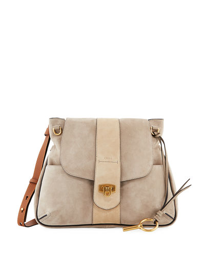 Lexa Medium Suede Shoulder Bag