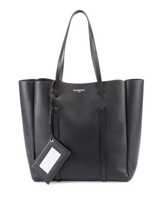 Everyday Small Leather Tote Bag, Multi, Black
