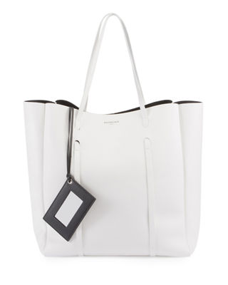 Extra Small Everyday Calfskin Tote - White in Black White