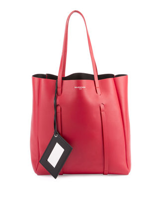 Small Everyday Calfskin Tote - Red