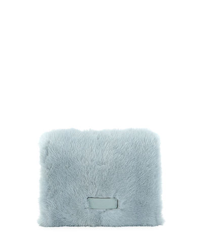 Lock Small Mink Fur Shoulder Bag