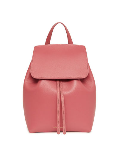Mini Saffiano Leather Backpack