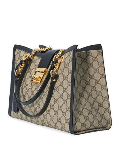 fae1ce76f3a2 Gucci Padlock GG Supreme Canvas Medium Shoulder Bag