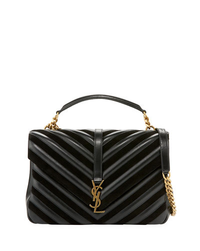 29473a94cb Saint Laurent Monogram College Large Quilted Top-Handle Bag