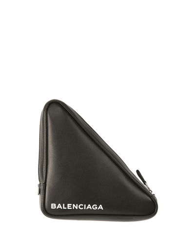 869d9192b287 Balenciaga Triangle Leather Pochette